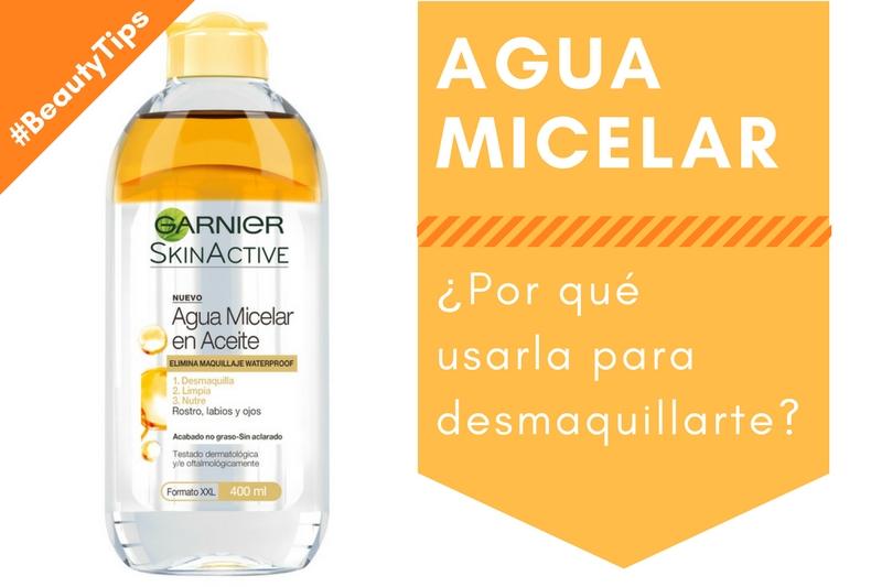 #BeautyTip: Por qué usar agua micelar para desmaquillarte